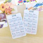 カード型カレンダー